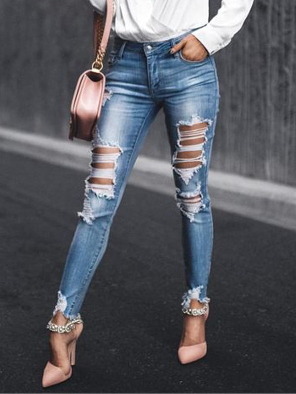 Women's  Casual  Denim Trousers