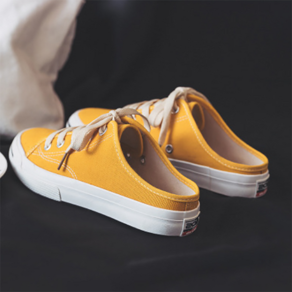 Daily Casual Round Toe Slip On Canvas Sneaker