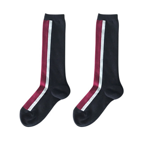 Striped Over-Knee Stocking Compression Socks