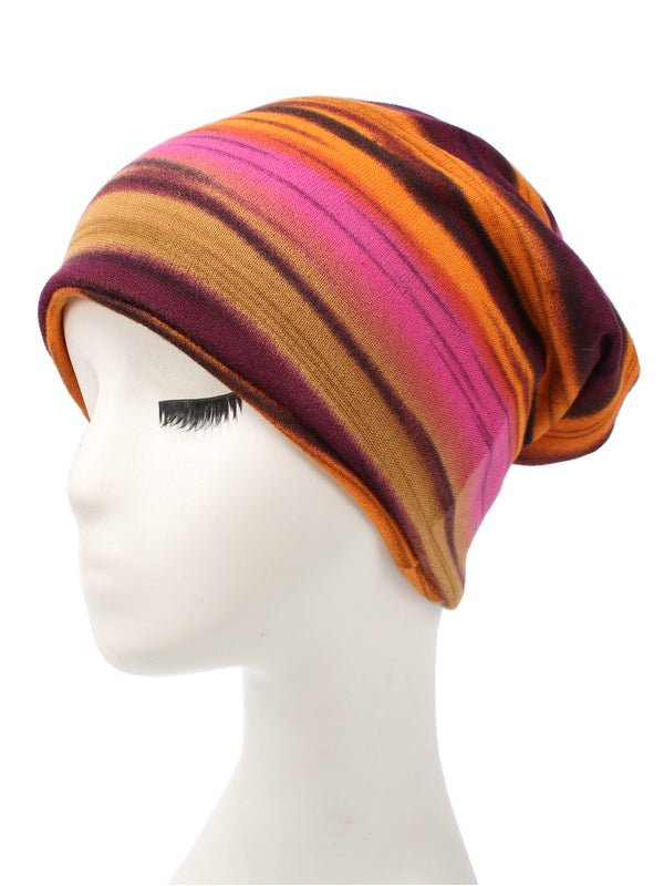 Color-block Ombre/Tie-Dye Casual Toque