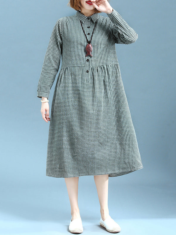 Shirt Collar Women Dresses Shift Daily Casual Dresses