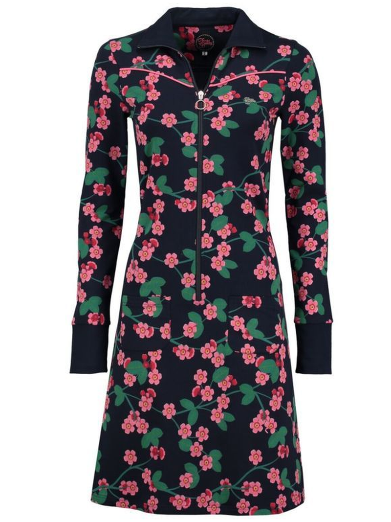 Floral-Print Casual Long Sleeve Dresses