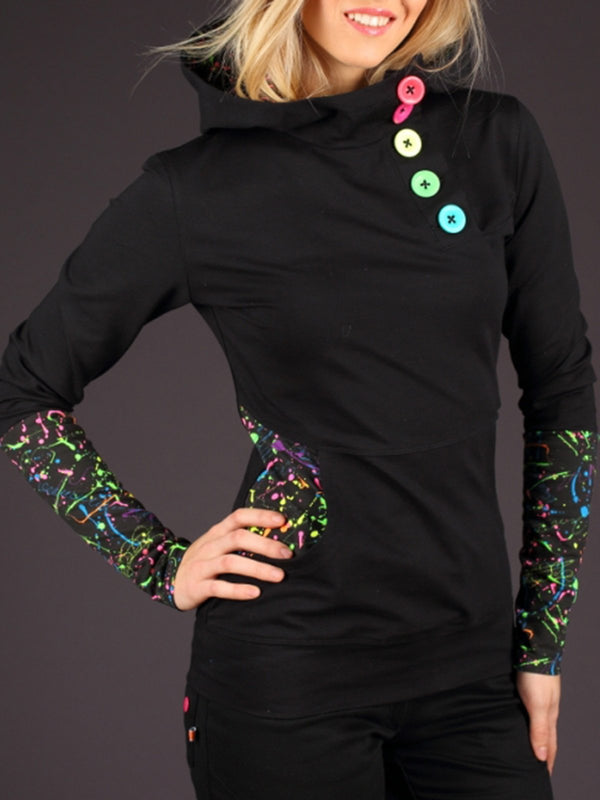 Solid Casual Long Sleeve Hoodie Sweatshirt