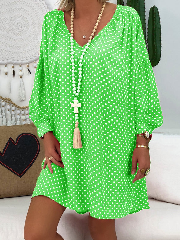 Polka Dot Printed Tunic Dresses