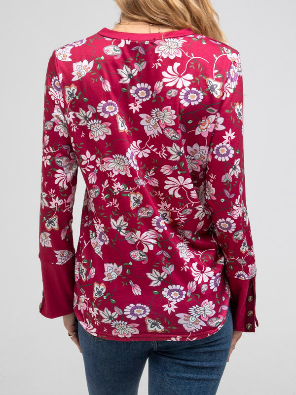 Floral Boho Long Sleeve Shirts & Tops