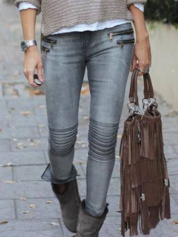 Plain Denim Pants
