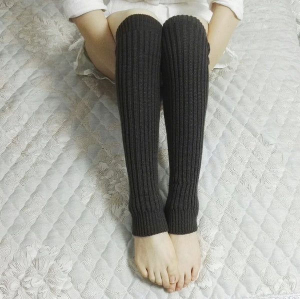 Knitted ribbed stockings