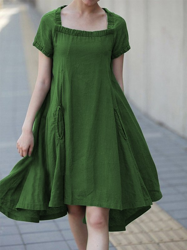 Casual Short Sleeve Plus Size Dress