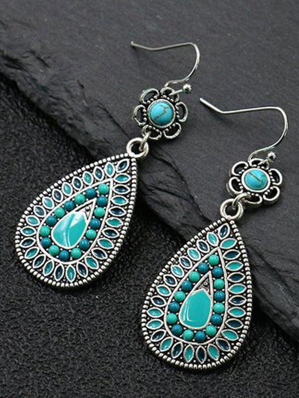 Alloy Vintage Plain Earrings