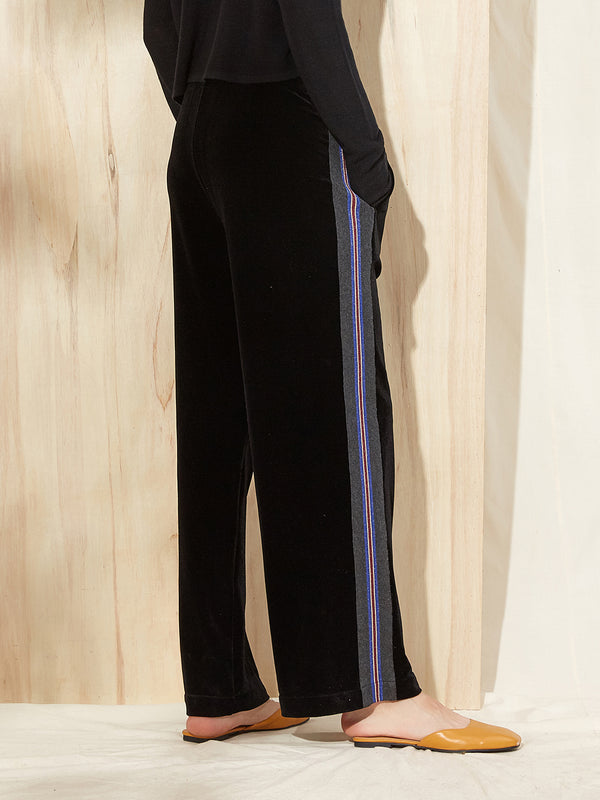 Velvet Casual Wide Leg Pants