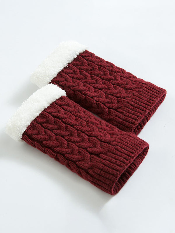 Women Winter Twist Warm Boot Socks