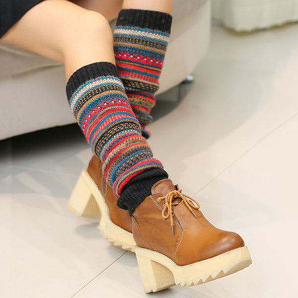 Tribal Wool Blend Women Casual Socks