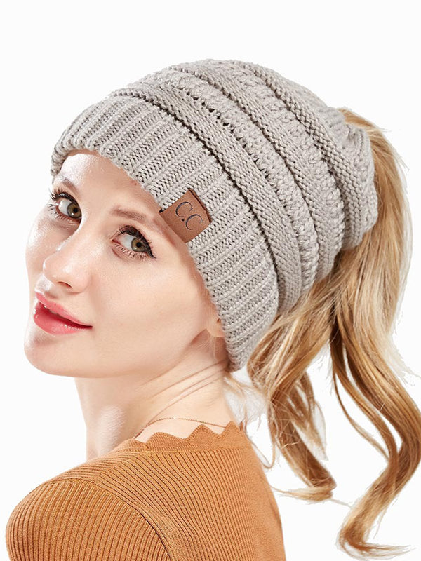 Women Knitted Casual Solid Hat