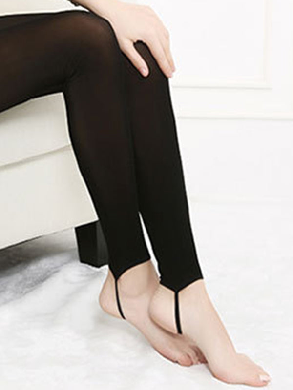 Women's Slim Fit Warm Velvet Elastic Step On Foot Leggings