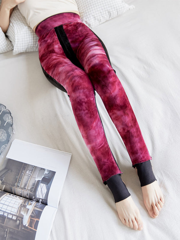 Women High Waist Stretchy Step On Foot Thicken Leggings