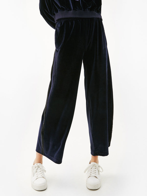 Meant to Take Navy Blue Velvet Track Pants