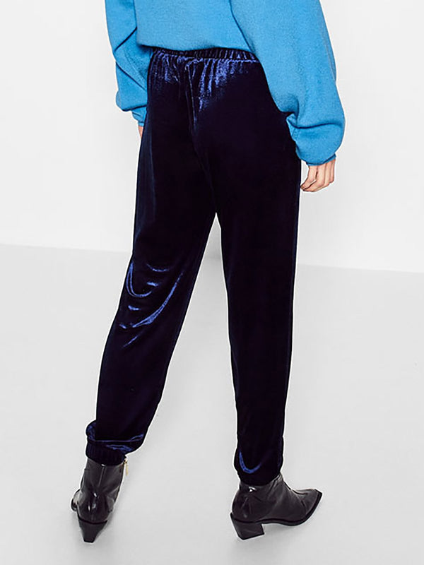 Love for Pockets Velvet Jogger Pants