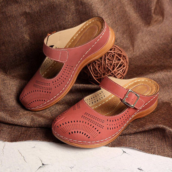 Casual Buckle Flat Heel Slippers