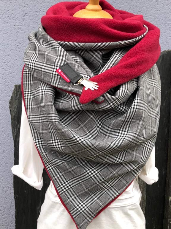 Vintage Checkered/plaid Cotton Scarves & Shawls
