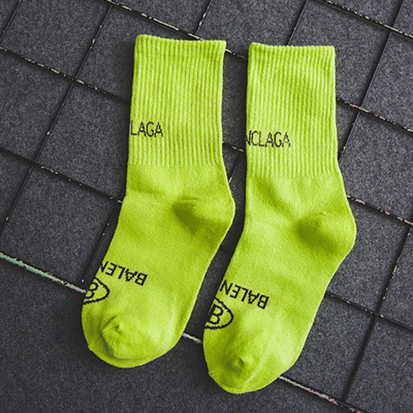 Multiple-color Solid Mid Knee Socks