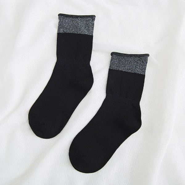 Solid Stitching Ankle Socks