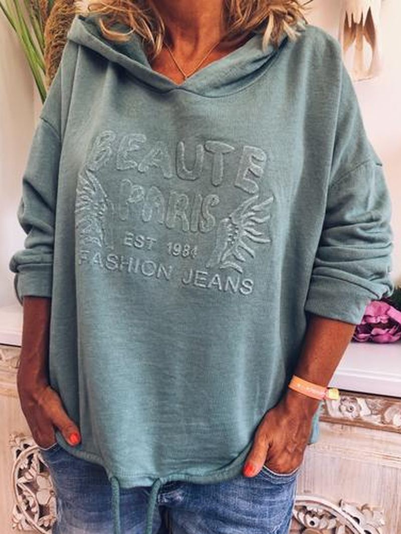 Cotton Hoodie Casual Plus Size Sweatshirt