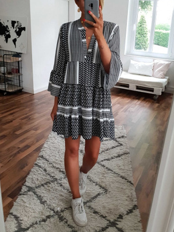 Casual Polka Dots Dresses