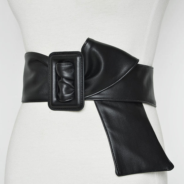 Women Casual Plain Artificial Leather Belt