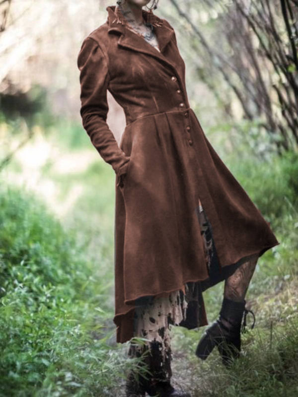 Casual Long Sleeve Plain Outerwear