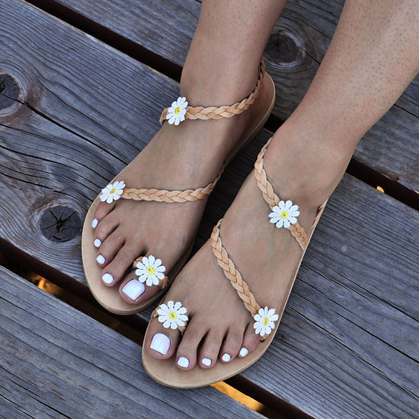 Women Flower Sandals Casual Slip On  Shoes