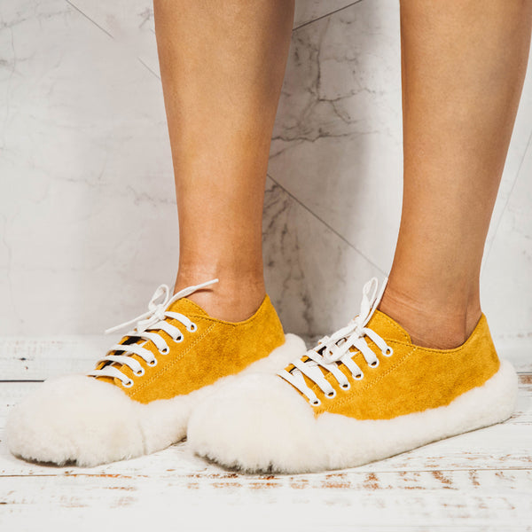 Women Casual Fur Sneakers Athletic Shoes
