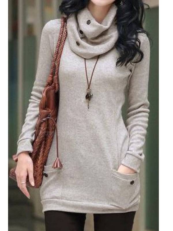 Apricot Long Sleeve Drawstring Cotton-Blend Hoodie Shirts & Tops