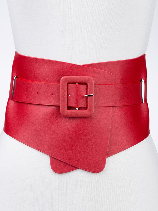 Women Statement Date Daily PU Solid Belt