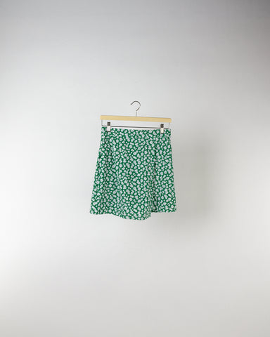 Performance Side Slit Skort Floral Print