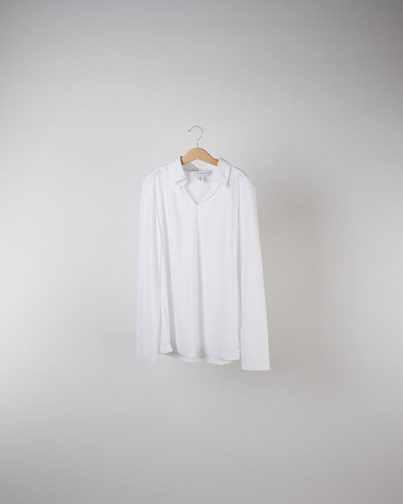 Performance Long Sleeve Polo White