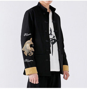 Yona Men's Embroidered Robe