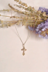 Cross White Gold Necklace