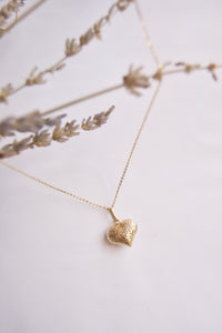 Two-Toned Heart Necklace