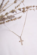 Load image into Gallery viewer, Textured Cross Necklace