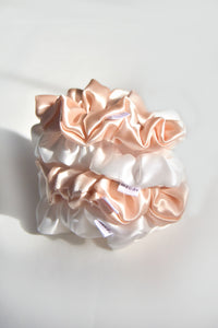 Classic Silk Scrunchie Set of 4