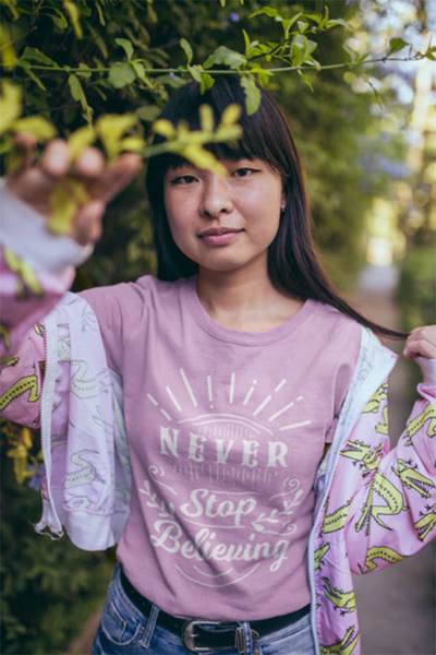 Never Stop Believing T-Shirt - Simply Unique Clothing Co.