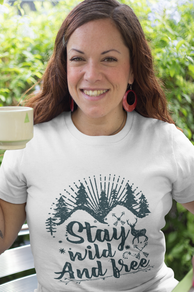 Stay Wild And Free T-Shirt - Simply Unique Clothing Co.