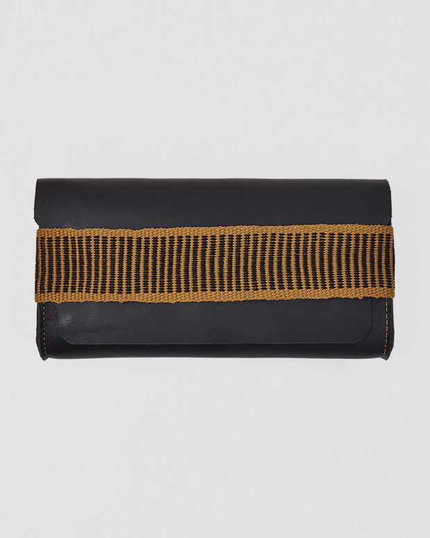 ARI Wallet Made by Leather and Handknit Strap - Siblings Army