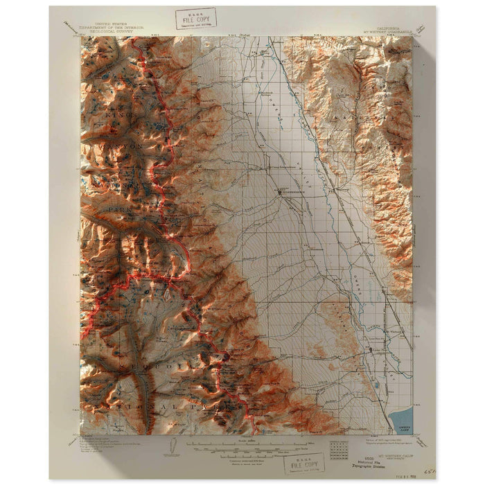 Mt. Whitney, California Map
