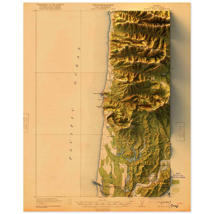 Heceta Head, Oregon Map