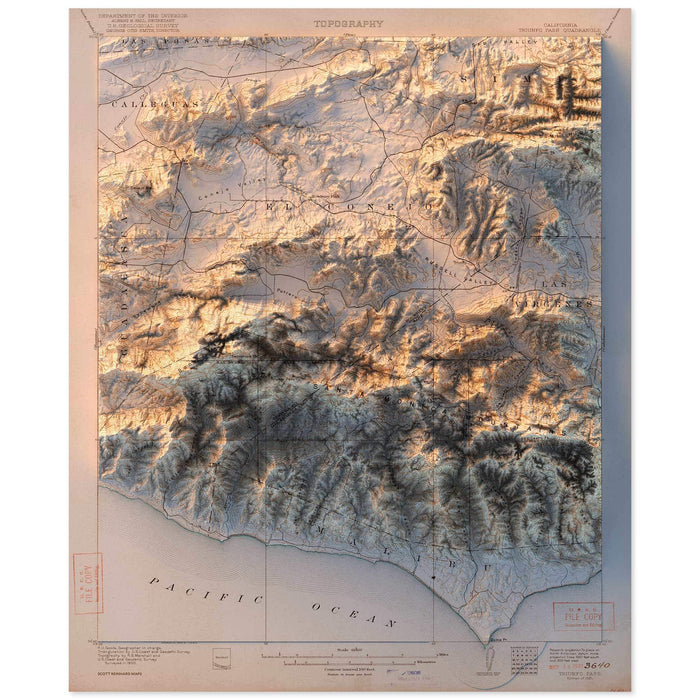 Triunfo Pass, California Map