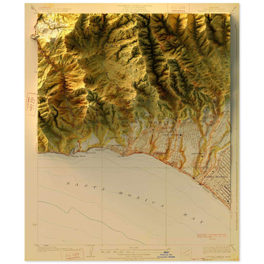 Topanga, California Map