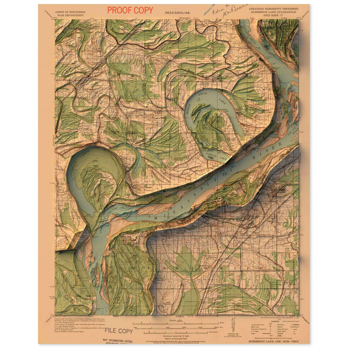 Horseshoe Lake, Arkansas Map