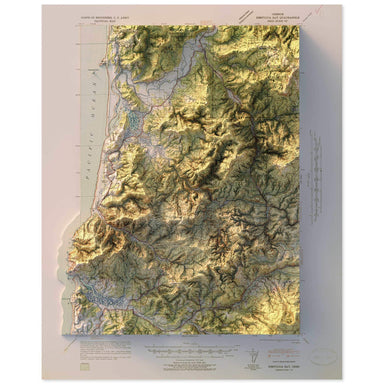 Nestucca Bay, Oregon Map