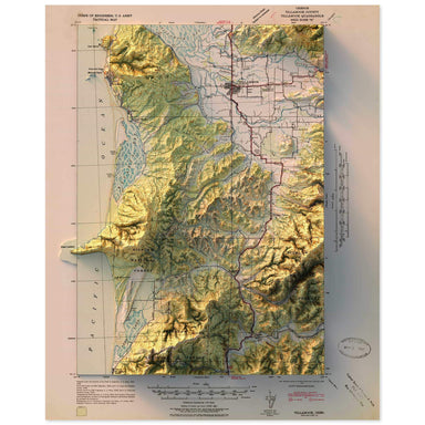Tillamook, Oregon Map